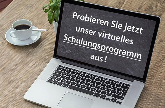 Laptop mit Aufschrift