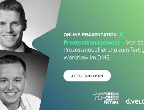 Online-Präsentation: Prozessmanagement – Von der Prozessmodellierung zum fertigen Workflow im DMS!