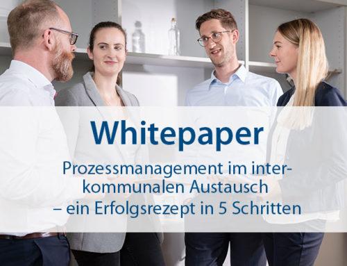 """Neues Whitepaper: """"Prozessmanagement im interkommunalen Austausch – ein Erfolgsrezept in 5 Schritten"""""""